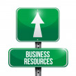 Business resources road sign illustrations — Stock Photo