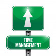 Time management road sign illustrations design — Stock Photo