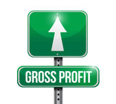 Gross profit road sign illustrations — Stock Photo