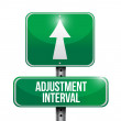 Adjustment interval road sign illustration design — Stock Photo #28644933