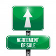 Agreement of sale road sign illustrations design — Stock Photo
