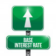 Stock Photo: Base interest rate road sign illustrations