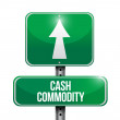 Cash commodity road sign illustrations design — Stock Photo #28645223