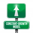 Stock Photo: Constant growth model road sign illustrations