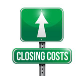 Closing costs road sign illustration design — Stock Photo