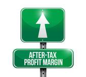 After-tax profit margin road sign illustrations — Stock Photo