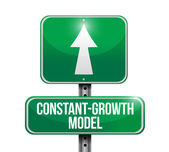 Constant growth model road sign illustrations — Stock Photo