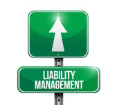 Liability management road sign illustrations — Stock Photo