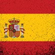Spanish grunge ink flag illustration design — Stock Photo