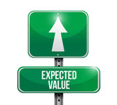Expected value road sign illustration design — Stock Photo