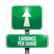 Earnings per share road sign illustration — Stockfoto