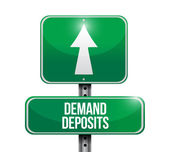 Demand deposits road sign illustration — Stock Photo