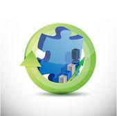 Missing business puzzle piece concept — Stock Photo