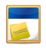 Calendário com um post com a resolução de palavra. — Foto Stock