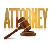 Attorney at law sign illustration design — Stock Photo