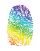 Rainbow pride thumbprint. fingerprint — Stock Photo