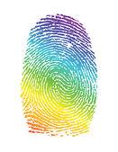 Rainbow pride thumbprint. fingerprint — Stock Photo