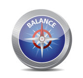 Guide to great balance. compass illustration — Stock Photo