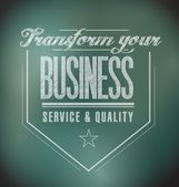 Transform your business seal message. illustration — Stock Photo