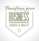 Transform your business seal message. — Stock Photo