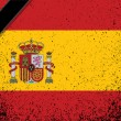 In memory spanish flag. spain grunge flag — Stock Photo