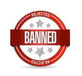 Banned seal illustration design — Stock Photo