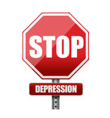 Stop depression road sign illustration — Stock Photo