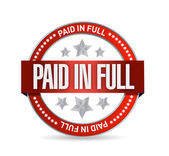 Paid in full seal illustration design — Stock Photo
