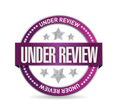 Under review seal illustration design — Stock Photo