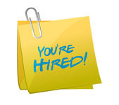 You are hired post illustration design — Stock Photo