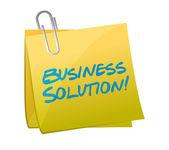 Business solution post illustration design — Stock Photo