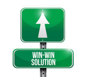Win win solution road sign — Stock Photo