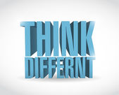 Think different 3d text illustration design — Stock Photo