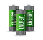 Energy batteries. illustration design — Stock Photo