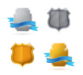 Blank. empty shield and seals for customization — Stock Photo