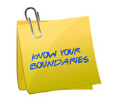 Know your boundaries. illustration design — Stock Photo