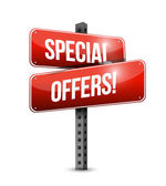 Special offers road sign illustration design — Stock Photo