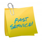 Fast service written on a post. illustration — Stock Photo #29578919