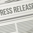 Press release closeup illustration design graphic — Stock Photo #29578929