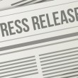 Press release closeup illustration design graphic — Stock Photo