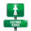 Customer service road sign illustration design — Stock Photo