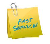 Fast service written on a post. illustration — Stock Photo