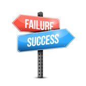 Failure versus success road sign illustration — Stock Photo