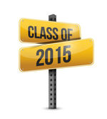 Class of 2015 road sign illustration design — Stock Photo