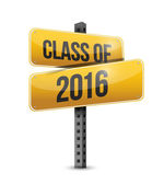 Class of 2016 road sign illustration design — Stock Photo