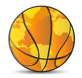 Basketball world map ball illustration — Stock Photo