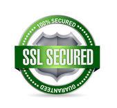Ssl secured seal or shield illustration — Stock Photo
