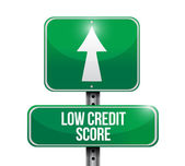 Low credit score road sign illustration design — Stock Photo