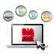 Stock Photo: Big sale online ecommerce technology concept.