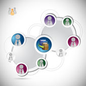 Online education student network concept — Stock Photo